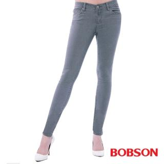 【BOBSON】女款超低腰.強彈力緊身褲(灰8131-87)