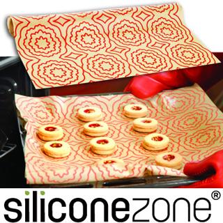【Siliconezone】施理康耐熱矽膠餅乾烤箱墊(亮橘色)