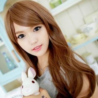 【米蘭精品】女假髮整頂假髮長假髮(日系甜美蓬鬆大波浪美髮用品穿搭配件3色69o28)