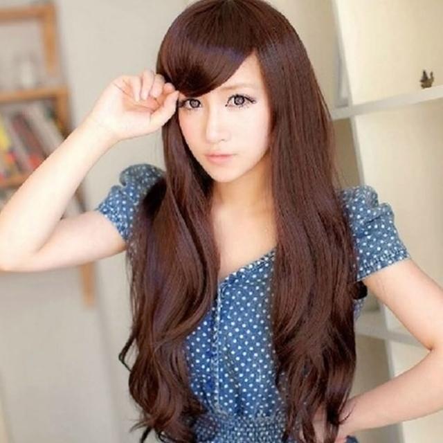 【米蘭精品】女假髮整頂假髮長假髮(時尚逼真蓬鬆長捲髮美髮用品穿搭配件3色69o22)