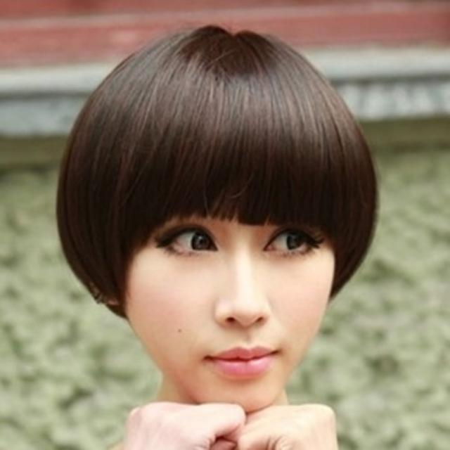 【米蘭精品】女假髮整頂假髮短假髮(可愛磨菇頭時尚減齡美髮用品穿搭配件3色69o64)