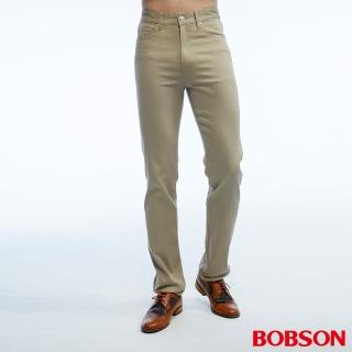 【BOBSON】男款高腰吸濕快乾色褲(卡其1806-72)