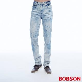 ~BOBSON~男款低腰壓摺直筒褲 1808~58