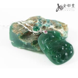 【金郁豐】絕世臻品天然帝王綠翡翠藍寶和葉錦鯉項鍊