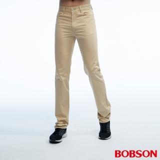 ~BOBSON~男款高腰配格紋直筒色褲 1821~72