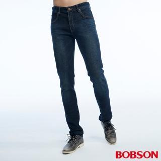 【BOBSON】男款低腰後貼雙袋直筒褲(1822-53)