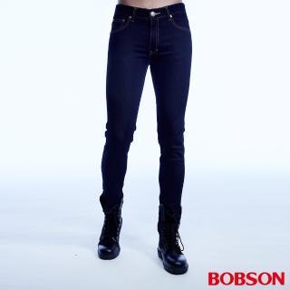 【BOBSON】男款超彈力直筒褲(藍1763-52)