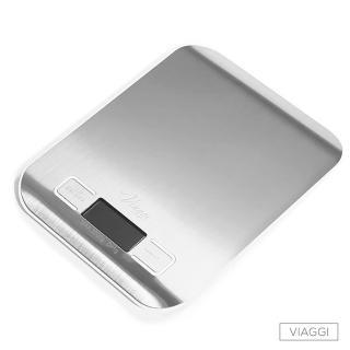 【VIAGGI】負顯示不鏽鋼電子料理秤(白色)