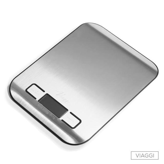 【VIAGGI】負顯示不鏽鋼電子料理秤(黑色)