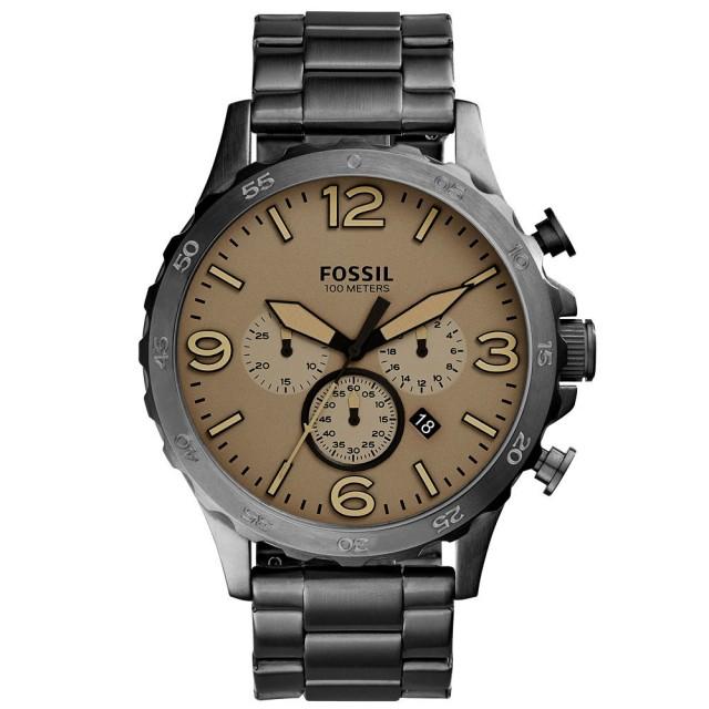 【FOSSIL】重裝教士三眼運動計時腕錶(JR1523)