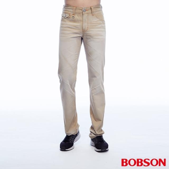 【BOBSON】男款刷色半舊直筒褲(1788-72)