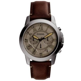 【FOSSIL】古典伯爵三環計時腕錶(FS5214)