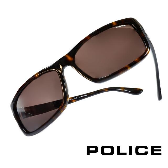 【POLICE】義大利警察都會款個性型男眼鏡-膠框(豹紋-POS1885-0722)