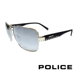 ~POLICE~義大利警察都會款 型男眼鏡~金屬框 銀黑 POS8880~0579