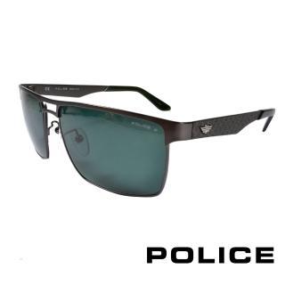 ~POLICE~義大利警察都會款 型男眼鏡~金屬框^(銀黑 POS8873~H68P^)