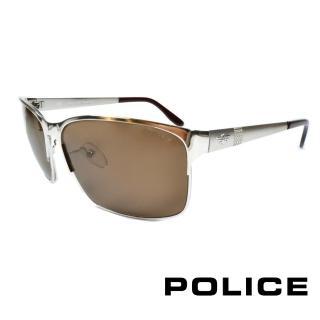 ~POLICE~義大利警察都會款 型男眼鏡~金屬框 銀色 POS8875~589P