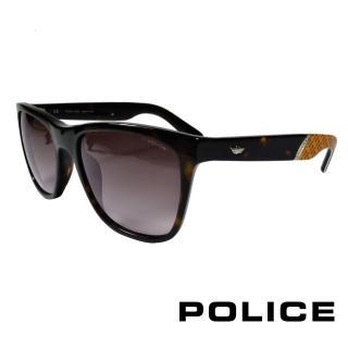 【POLICE】義大利警察都會款個性型男眼鏡(豹紋黃 POS1859-0722)