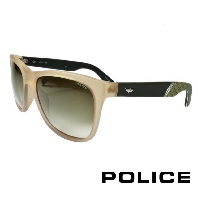 【POLICE】義大利警察都會款個性型男眼鏡(杏色 POS1859-858M)
