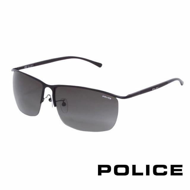 【POLICE】都會復古飛行員太陽眼鏡(消光黑 POS8693-0531)