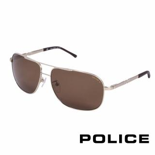 ~POLICE~都會 偏光飛行員太陽眼鏡 金色 POS8747~349P