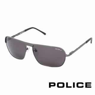 ~POLICE~都會 飛行員太陽眼鏡 銀灰色 POS8745~584P