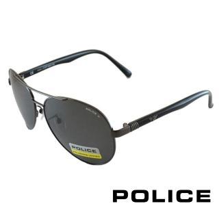 ~POLICE~ 飛行員偏光太陽眼鏡 華光四射LOGO^(黑色 POS8640~568P^