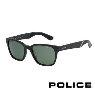 ~POLICE~飛行員偏光太陽眼鏡 復古膠框 ^(黑色 POS1714~703P^)