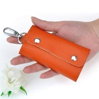【米蘭精品】真皮鑰匙包男女配件(汽機車實用多功能時尚11色71b2)