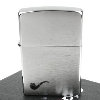 【ZIPPO】美系-Pipe Lighter-煙斗用打火機(拉絲打磨電鍍鉻款)