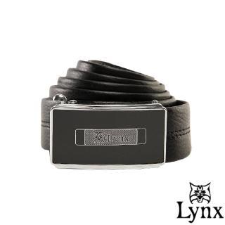 【Lynx】山貓城市系列簡約款自動扣真皮皮帶