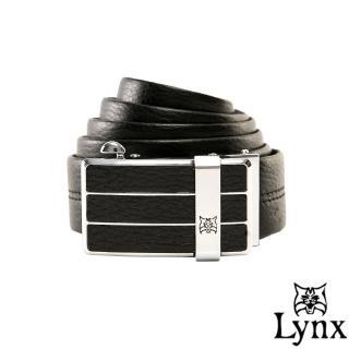 【Lynx】山貓城市系列陽光款自動扣真皮皮帶
