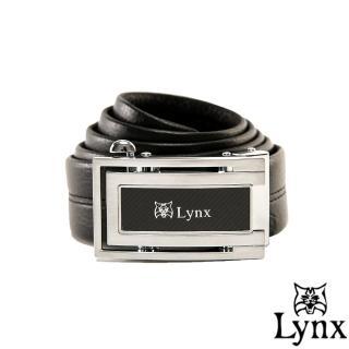 【Lynx】山貓城市系列U型款自動扣真皮皮帶