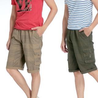 【EXPOSE】美式新款格子工作休閒短褲(共兩色)