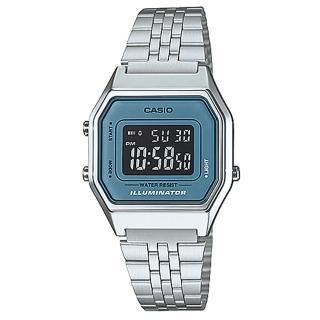 【CASIO】方格普普風數位運動錶(LA-680WA-2B)