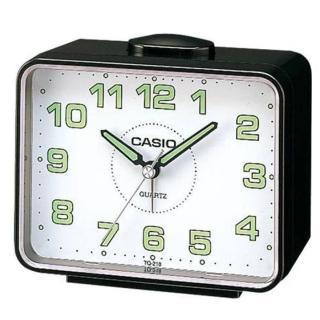 【CASIO】夜間實用桌上型鬧鐘(TQ-218-1B)