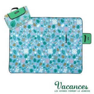 【VACANCES】戶外郊遊 闊葉雨林 提袋式摺疊(超防水 野餐 沙灘墊)