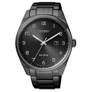 【CITIZEN】時尚風格光動能腕錶(黑/BM7325-83E)