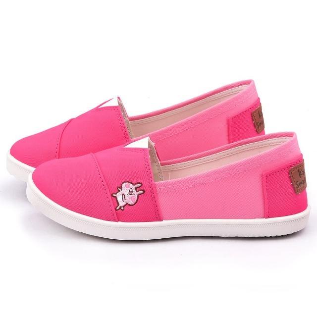 【童鞋城堡】卡娜赫拉 女款 質感簡約帆布休閒鞋(KI8308-桃)