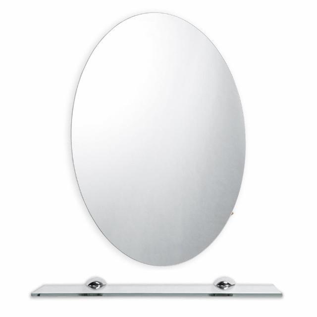【HOMAX】W48X68H橢圓鏡(除霧明鏡)
