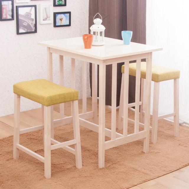 【AS】比德與安妮塔吧檯桌椅組-80x60x87cm(一桌兩椅)