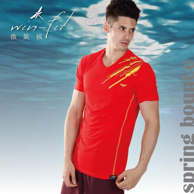 【SANTO】win-fit 微氣候運動衫-經典款(紅色)