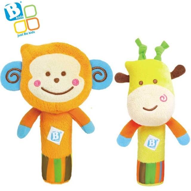 【英國 Bkids】噗噗猴子握棒+長頸鹿握棒