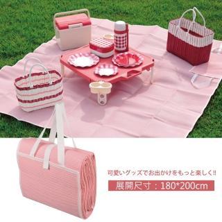 【Pearl】日式野餐墊 180x200cm 粉紅 D-235(野餐墊)