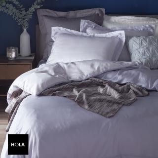 HOLA home雅緻天絲素色床包單人 淡紫色