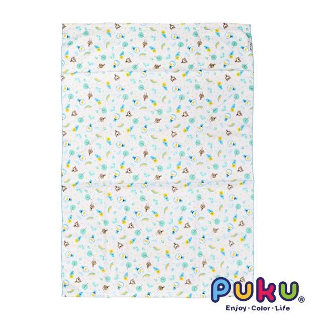 【PUKU藍色企鵝】PUKU印花紗布大浴巾-70*100cm(水色)