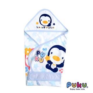 【PUKU藍色企鵝】單層包巾-春夏F(水色)