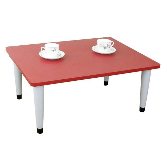 【美佳居】寬80x深60/公分-和室桌/休閒桌/矮桌-喜氣紅色(三款腳座可選)