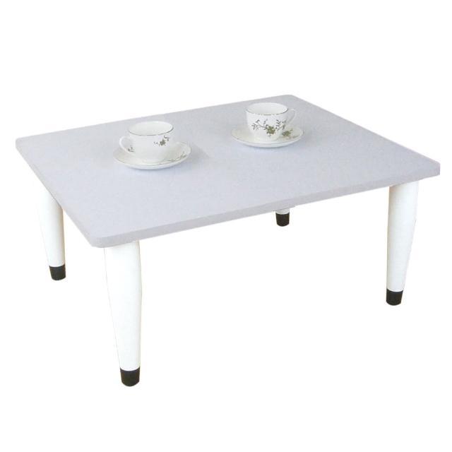 【美佳居】寬60x深60/公分-和室桌/休閒桌/矮桌-素雅白色(三款腳座可選)