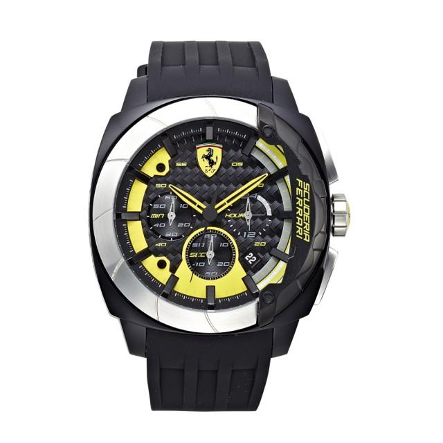 【FERRARI】狂速賽車大鏡面時尚計時腕錶(46mm/0830206)