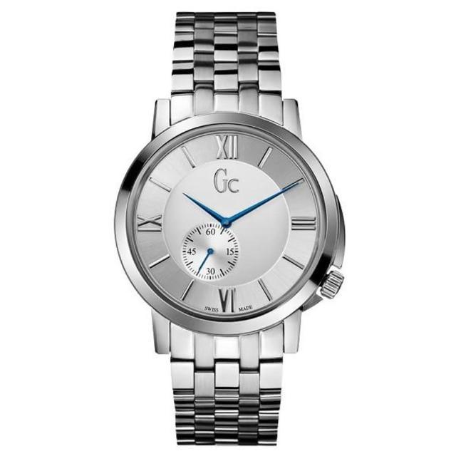 【Gc】羅馬簡約配色單眼計時腕錶-銀x藍/42mm(GC-GXX59002G1S)